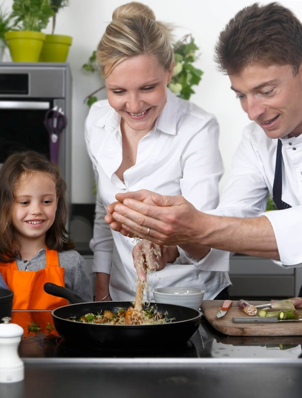 Chef Jean Sulpice avec enfant