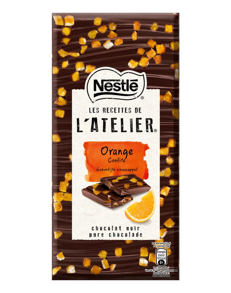 Chocolat orange confite