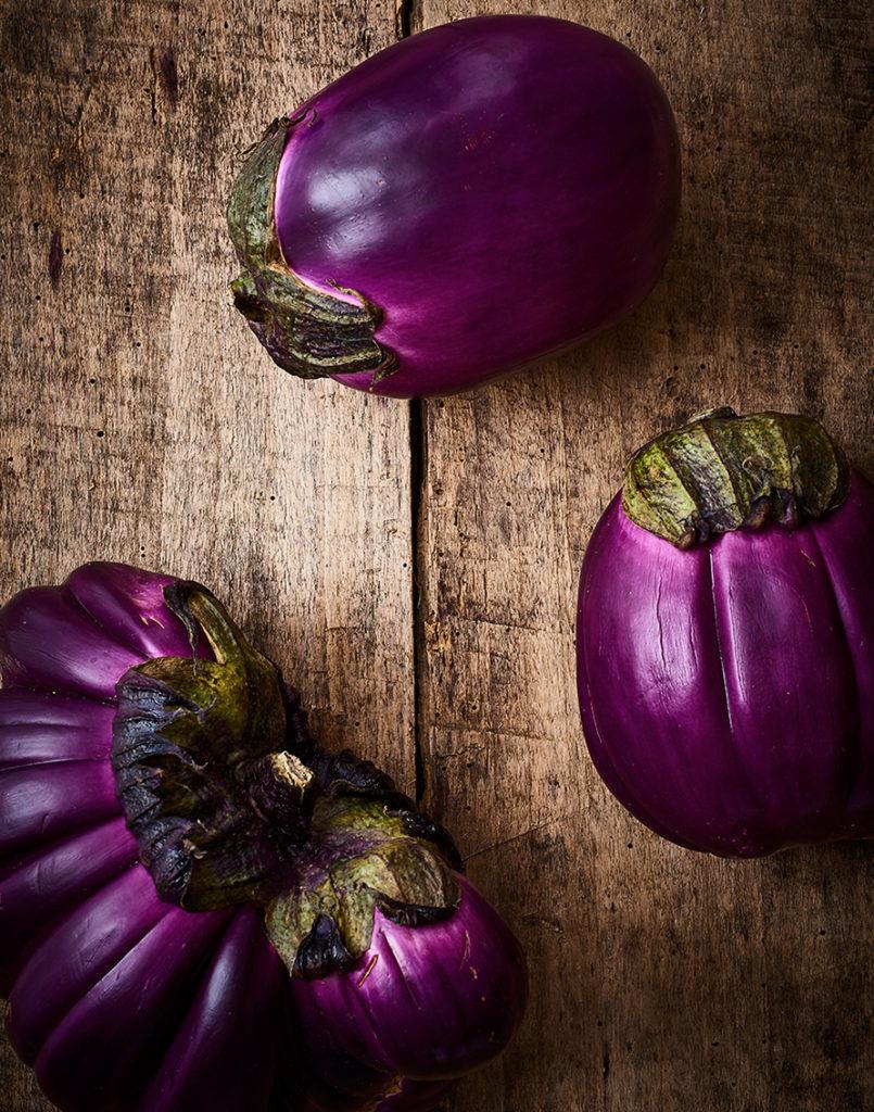 Pausée d'aubergines