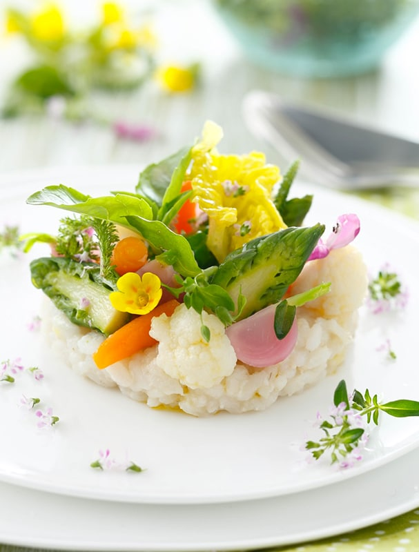 Risotto légumes verts
