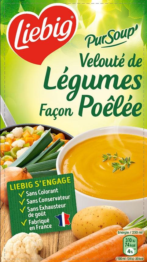 Velouté de légumes facon poêlée