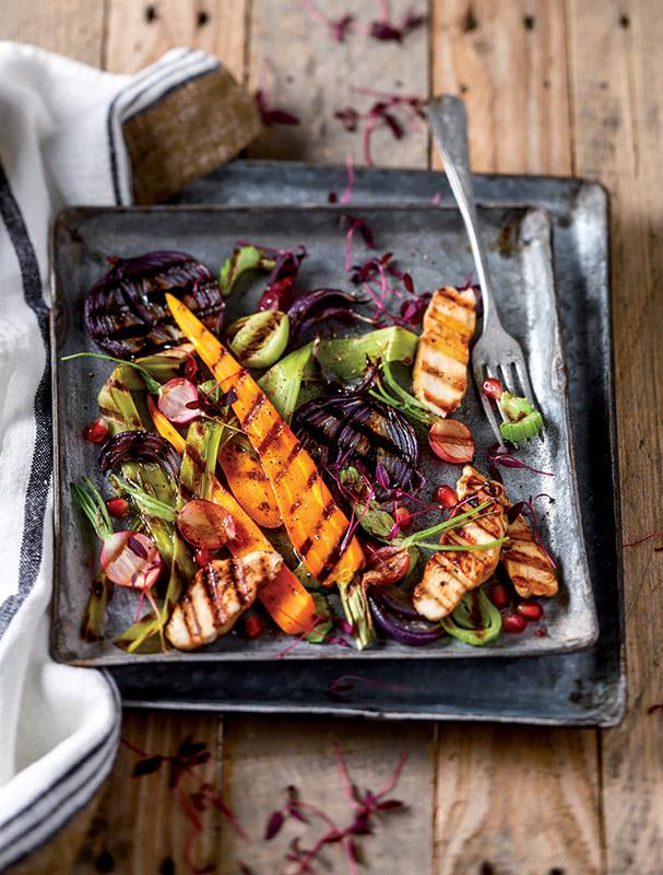 Légumes en plaque