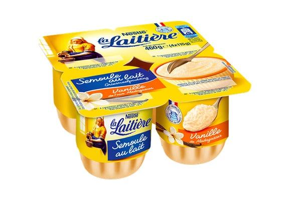Semoule au lait vanille