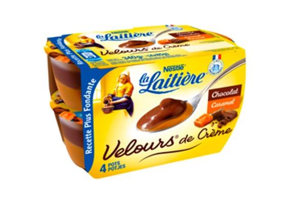 Velours de crème chocolat caramel